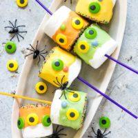Monster Halloween Marshmallow Pops {Gluten-Free}