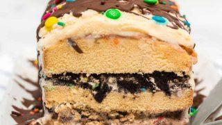 Easy Ice Cream Cake - A No-Bake Ice Cream Layer Cake!
