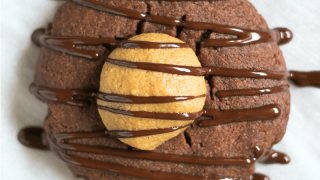 Chocolate Peanut Butter Buckeye Cookies
