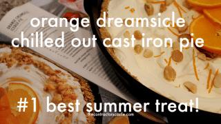 No-Bake Orange Cream Chilled Cast Iron Pie