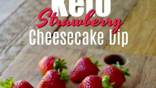 Keto Strawberry Cheesecake Dip