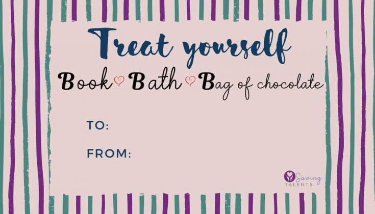 "FREE Printable Gift Tag - ""Treat Yourself"""